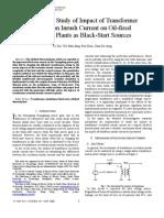 Simulation Study of Impact of Transformer Excitation Inrush