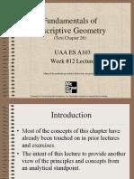 Lec 11 Descriptive Geometry