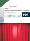[DE] ECM 2.0 | Ulrich Kampffmeyer | SAPERION congress 2007 | Handout version