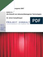 [DE] ECM 2.0   Ulrich Kampffmeyer   SAPERION congress 2007   Handout version