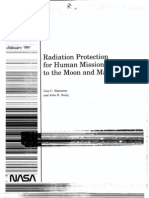 Radiation Protection for Human Missions to the Moon and Mars