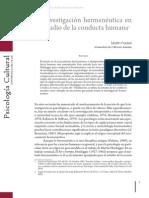 La Investigacion Hermeneutica Estudio Conducta Humana (Packer, 2010)