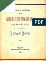 peregrinacion aztecas nombres