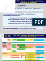 Qualif Et Optimisation de Processus