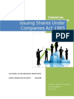 Process of Share Issuance for a Company Incorporated Under the Company Act 1965
