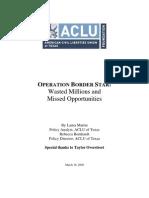 2009 Operation Border Star Report