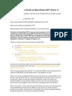 Cómo Crear un Portal en SharePoint 2007