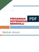 Persamaan Differensial Bernoulli