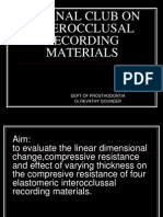 Interocclusal Recording Materialsppt
