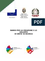 Bando per la creazione e lo sviluppo di Unità di ricerca - Regione Autonoma Valle d'Aosta