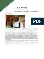 Lanza Librado Navarro consulta ciudadana en línea