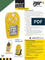 Gas Alert Micro 5 Data Sheet