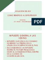 Devolucion Del IGV Como Beneficio Al Exportador