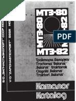 MTZ80 82 alkatrész katalógus