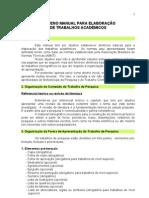 Pequeno Manual Para Elaboracao de Trabalhos Academicos