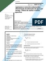 Nbr 9778 - Argamassa e Concreto Endurecidos - Determinacao Da Absorcao de Agua Por Imersao - Indice de Vazios e Massa Especifica