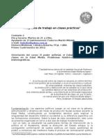 Programa de clases prácticas de Historia Medieval (Federico Miliddi-2012)