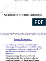 Quantitative Research Techniques