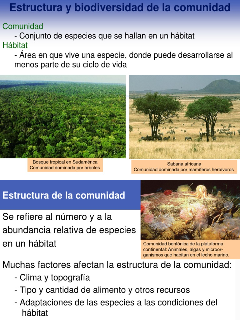 Ecología de comunidades: Estructura y biodiversidad