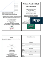 2012 WWU Softball Golf Tournament Registration Form
