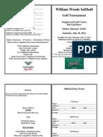 2012 WWU Softball Golf Tournament Registration Form