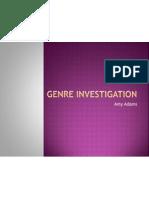 A2 Genre Investigation