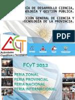 Formato de Presentación de Proyectos para FCyT 2012