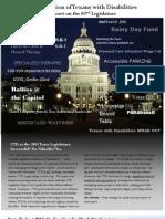 CTD Report on the 82nd Legislature (2011)