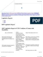 CTD 2007 Legistlative Report