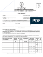 2011-2012 Dependent Verification Form