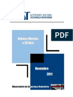 Vitimas a 30 dias - 2011.11 - Relatório Novembro 2011