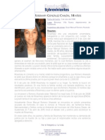 Caso de la muerte violenta de Rosemary González Chajón, 18 años.