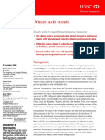 Where Asia Stands - Rough Guide to Recent Financial Rescue Measures