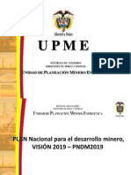 Plan Nacional Para El Desarrollo Minero