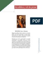 Tratado de Los Delitos y de Las Penas - Cesar Becaria. www.iestudiospenales.com.ar
