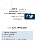 MEE104L Lesson01 Intro 3dCAD Basics&Interface