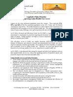 Legislative Policy Priorities Improving Latino Health Care Access
