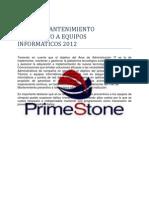 PLAN DE MANTENIMIENTO PREVENTIVO A EQUIPOS INFORMÁTICOS 2012