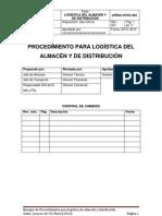Procedimiento para logística de almacén y distribución_Joaquín del Val Melús