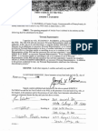 Signed First Codicil to Will of Joseph v. Paterno (With Blue Back) (WC553902)