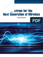 Spectrum for the Next Generation of Wireless