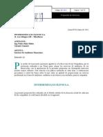 PROPUESTA DE SERVICIO FINANCIERO