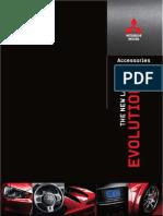 Mitsubishi Evolution Accessory Brochure