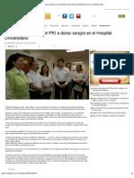 14-06-2012 Acuden Candidatos Del PRI a Donar Sangre en El Hospital Universitario-Mnoticias