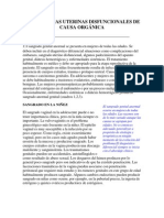 HEMORRAGIAS UTERINAS DISFUNCIONALES DE CAUSA ORGÁNICA