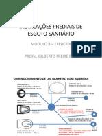 INSTALAÇÕES DE ESGOTO SANITÁRIO-MÓDULO II EXERCÍCIO