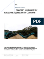 Alkali-Silica Reaction Guidance for Recycled Aggregate in Concrete