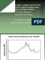 Los salarios antes y después del TLCAN. Diferencias de salarios medios entre México y Estados Unidos