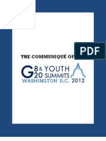 The Communique of the g8 g20 Youth Summits