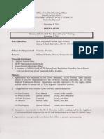 Minutes of Football PostSeason Coaches Meeting 12-07-11